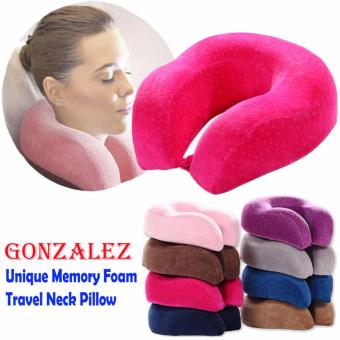 New Unique Design Memory Foam Neck Pillow (Dotted Pink)