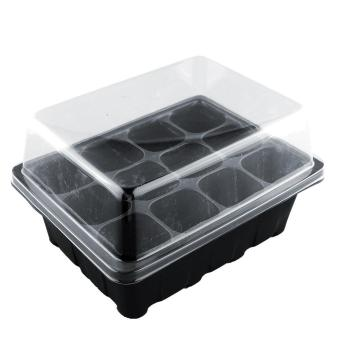 New Useful 12 Cells Hole Plant Seeds Grow Box Tray Propagation Cloning Case