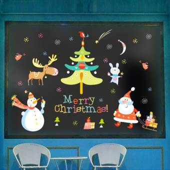 New Year's Day Christmas decorations mall wall sticker