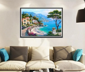Newest Trendying DIY 5D Diamond Embroidery Painting Cross StitchHome Decoration/Aegean Sea - intl - 2