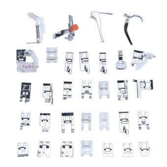 niceEshop 32pcs Domestic Sewing Machine Presser Foot Set Kit ForJanome Brother Singer NewHome Elna, Toyata, Singer Price Philippines