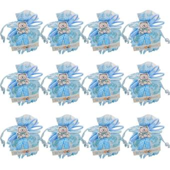 niceEshop Candy Boxes Small Birthday Gift Boxes Boy BabyDecorations Treat Box Supplies,Blue - intl