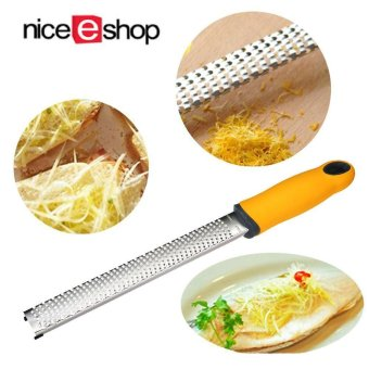 niceEshop Kitchen Cheese Grater Lemon Zester- Easy To Grate Or ZestLemon, Orange, Citrus, Cheese, Chocolate, Nuts (yellow) - intl Price Philippines