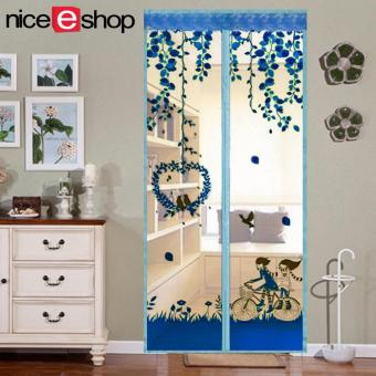 niceEshop Magnetic Mosquito Net Screen Door Mesh Screen Curtain,Sky Blue