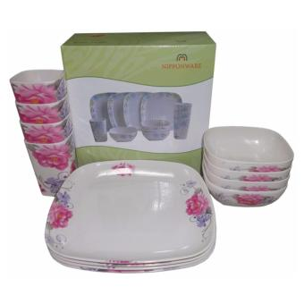 Nippon Ware A5389 Square Dinnerware Set (White)