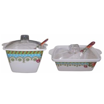 Nippon Ware CQ 7+CQ 8-A Square Casserole Set (White) Price Philippines