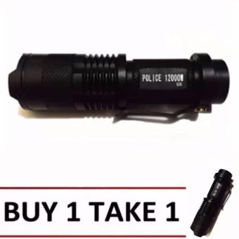 No. 98 Type Rechargeable Cree LED Flashlight (Black)Buy1 Take1