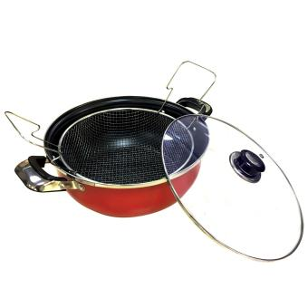 Non-Stick Cooking Induction Casserole Pan 28cm (w/ Frying Basket -85028)