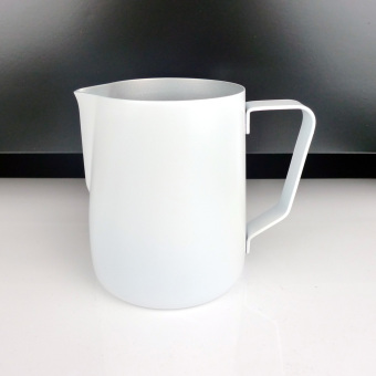 Non-stick Stainless Steel Espresso Coffee Latte Frothing Jug White 600ML