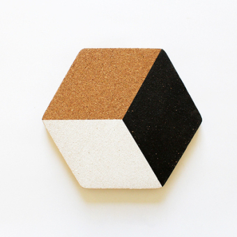 Nordic geometric industrial wind mat cork coasters
