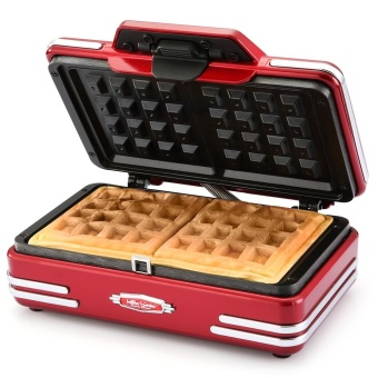 NOSTALGIA ELECTRICS RWM200 Two-piece Waffle Maker with NonstickGrid (UK PLUG) - intl