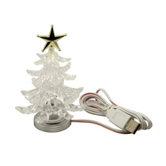 Novelty Miniature Christmas Tree Shape Color Changing USB LED NightLight Lamp