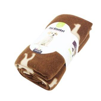 Nunbell Dogs Pattern Pet Mat Blanket (Brown) - 2