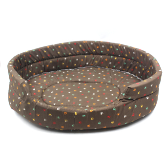 Nunbell Large Paws Pattern Pet Dog Bed (Brown) Giga 61x52x15 cm