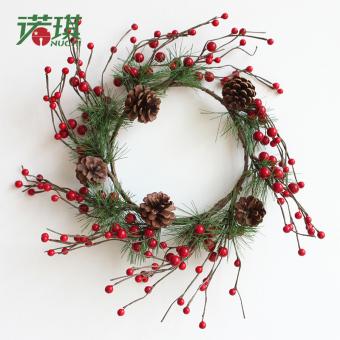 Nuo Qi 30cm three-dimensional Christmas wreath