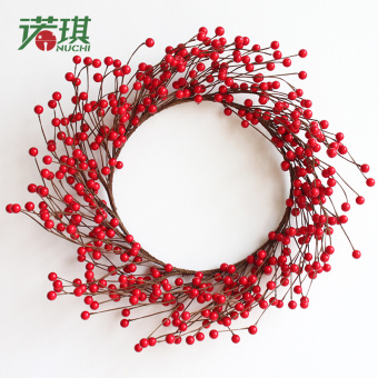 Nuo Qi 40 cm/50 cm model berry Christmas wreath