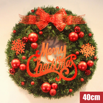 Nuo Qi 40 cm/50 cm/60 cm lettered brand rattan ring Christmas wreath