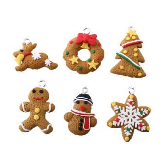 OEM Cute 6-piece Polymer Clay Fimo Xmas Christmas Decor Gift (Intl)