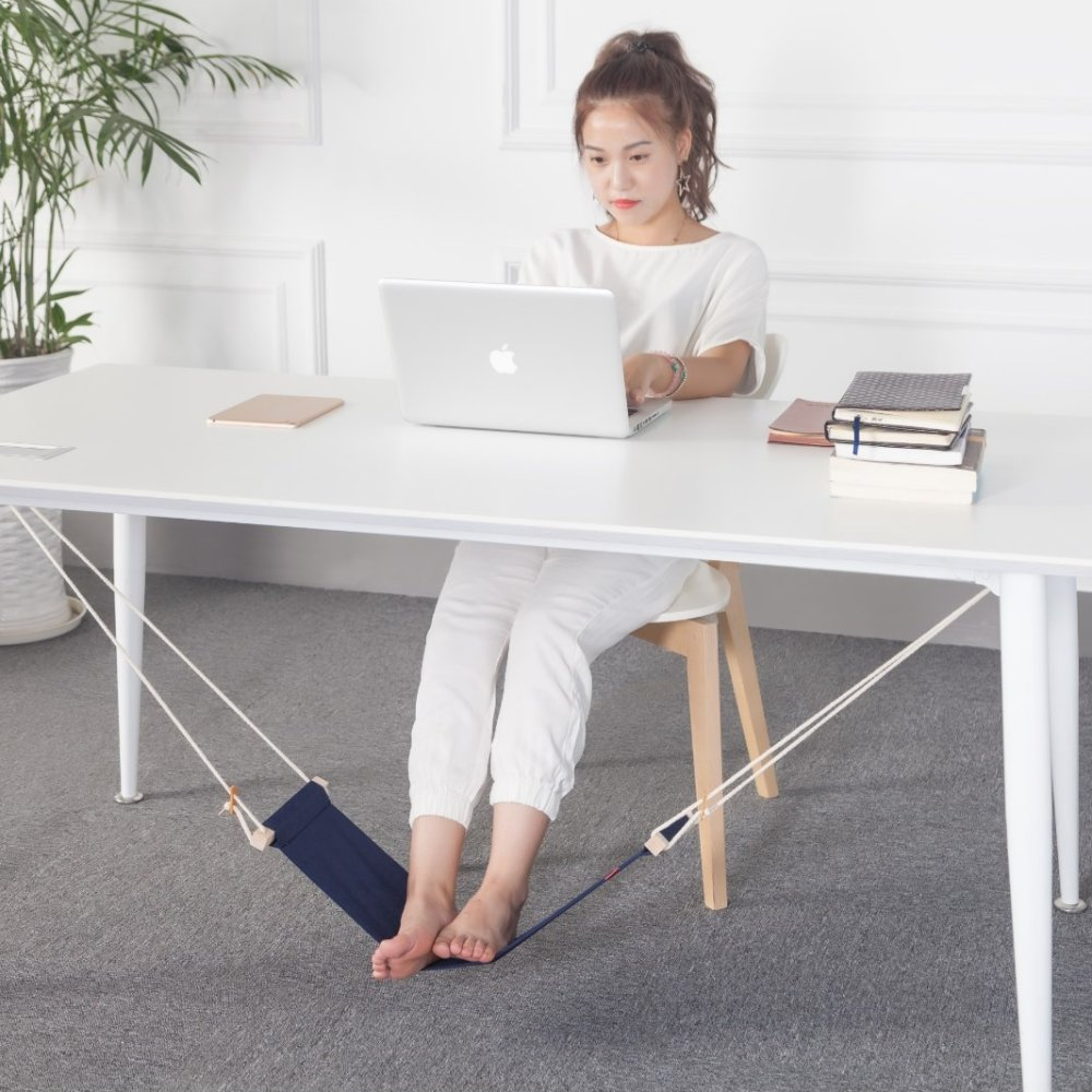 office home desk foot hammock foot rest stand novelty item blue lazada ph