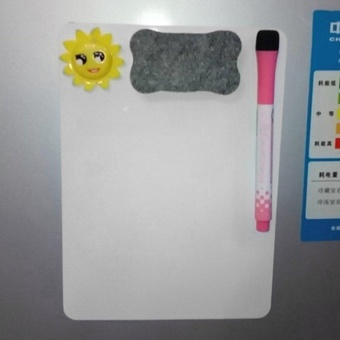 OH 21*15cm Whiteboard Writing Board Magnetic Fridge Erasable Message Memo Pad White - intl - 5