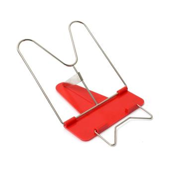 OH Adjustable Angle Foldable Portable Reading Book Stand Document Holder red - 5