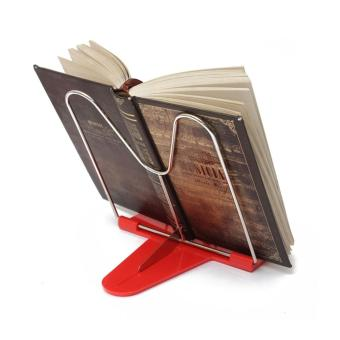 OH Adjustable Angle Foldable Portable Reading Book Stand Document Holder red