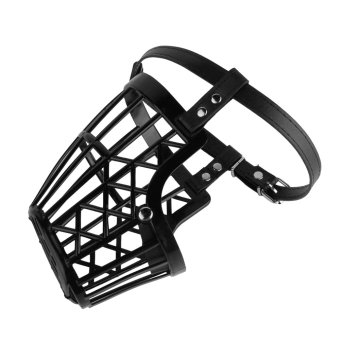 OH Adjustable Basket Mouth Muzzle Cover For Dog Training Bark Bite Chew Control