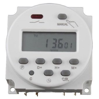 Okdeals Digital LCD Time Switch Power Programmable Electronic Timer Relay AC 220V 16A White