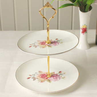 Olympia 2 Or 3 Tier Glass Cake Plate Stand Server 2Gold Price Philippines