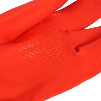 One Pair Of Long Warm Latex Washing Gloves Waterproof For Winter Househeld Kitchen Cleaning Hot - intl - 4