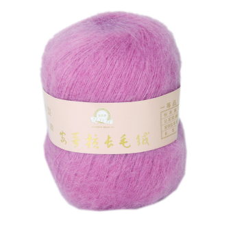 One Skein Angola Mohair Cashmere Wool Knitting Yarn Craft - Hot Pink