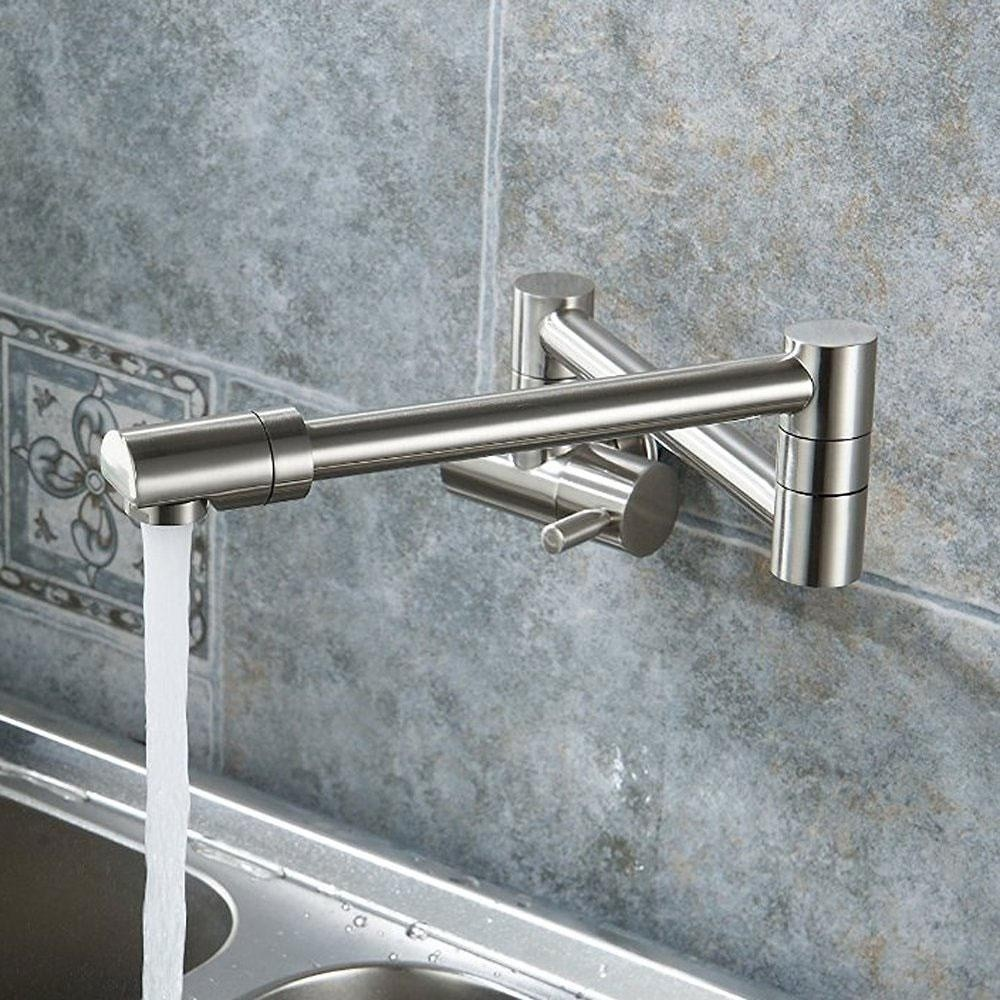 ooplm Cold Water Tap Kitchen Faucets Wall Mounted Faucet Swing Spout ...