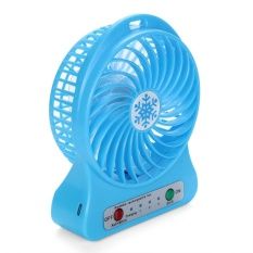 Magicworldmall Ready Stock Portable Led Desk Fan Air Cooler Rechargeable Usb Charging Pc Laptop Computer