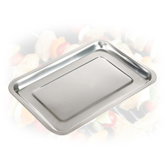 Outdoor Barbecue Tool Thicken Stainless Steel BBQ Grill Tray DripPan - Intl - 4