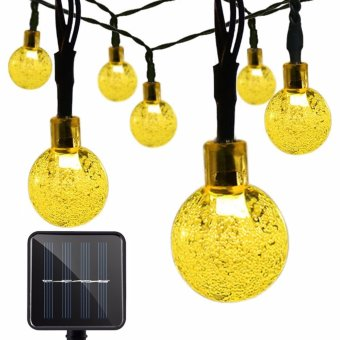 Outdoor Christmas Solar String Lights 30 led Crystal Ball Waterproof Light for Garden, Yard, Home, Landscape, and Holiday Decorations (Warm White) - intl