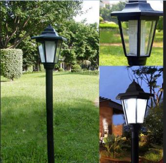 Outdoor Solar Power LED Path Light Garden Fence Lamp   Intl