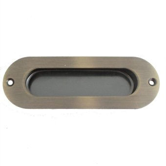 Oval Modern SCH001 120mm Flush Handle For Sliding Cabinet Door(Antique Brass)