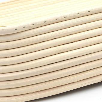 Oval Rattan Basket Bread Banneton Brotform Proofing Mold FruitStorage Kitchen 25x15x8cm - Intl - 4
