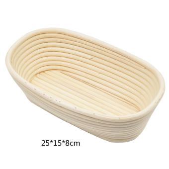 Oval Rattan Basket Bread Banneton Brotform Proofing Mold FruitStorage Kitchen 25x15x8cm - Intl - 5
