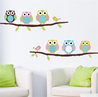 Owl Branch Paper Removable Wall Sticker Baby's Nursery Room Decals Art Decor - intl