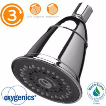 Oxygenics Water Saving Trispa Shower Head (Chrome)
