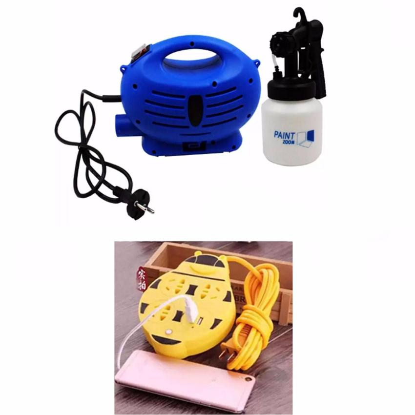 Paint Zoom Sprayer (Blue/White)with Free Extension 180 cm Yellow