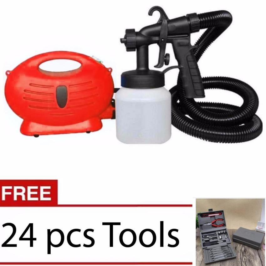 Paint Zoom Sprayer (Red)With Free 24 pcs Tools