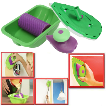 Painting Roller Tray Sponge Set Kit Household Decorative Brush Point Paint Tools