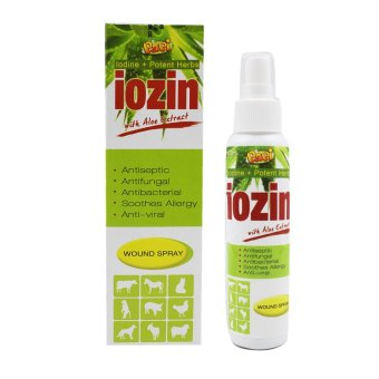 Papi Iodine Potent Herbs Iozin with Aloe Extract Wound Pet Spray 120mL - 3