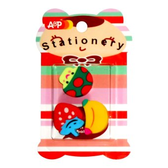 Party Give Away for Children's Party Fruit Shaped Eraser 3's Set of25 - 2