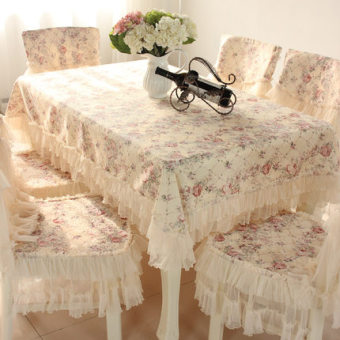 Pastoral European Chair cover table cloth