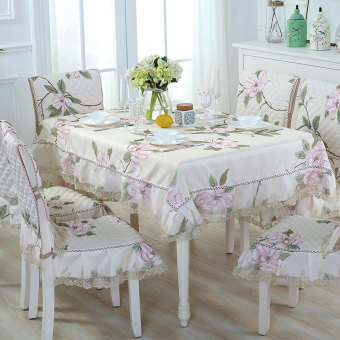 Pastoral lace waterproof rectangular tablecloth fabric tablecloth