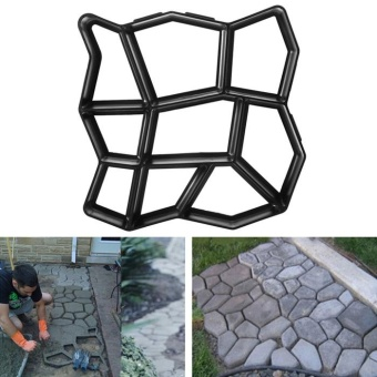 Pavement Concrete Mold Garden Walk Path Maker (Black) - intl