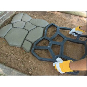 Pavement Mold DIY Plastic Path Maker Mold Garden Stone Road Concrete Mold Manually Paving Cement Brick Molds 50*50*4.4cm - intl - 2
